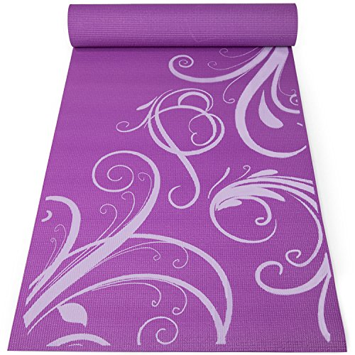 FIT SPIRIT Mens n Womens 6mm Yoga Exercise Mat, Purple