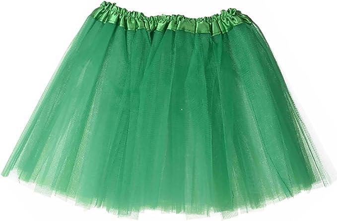 J&E Falda Tutú Clásica de Ballet para Niña de 28CM de color verde ...