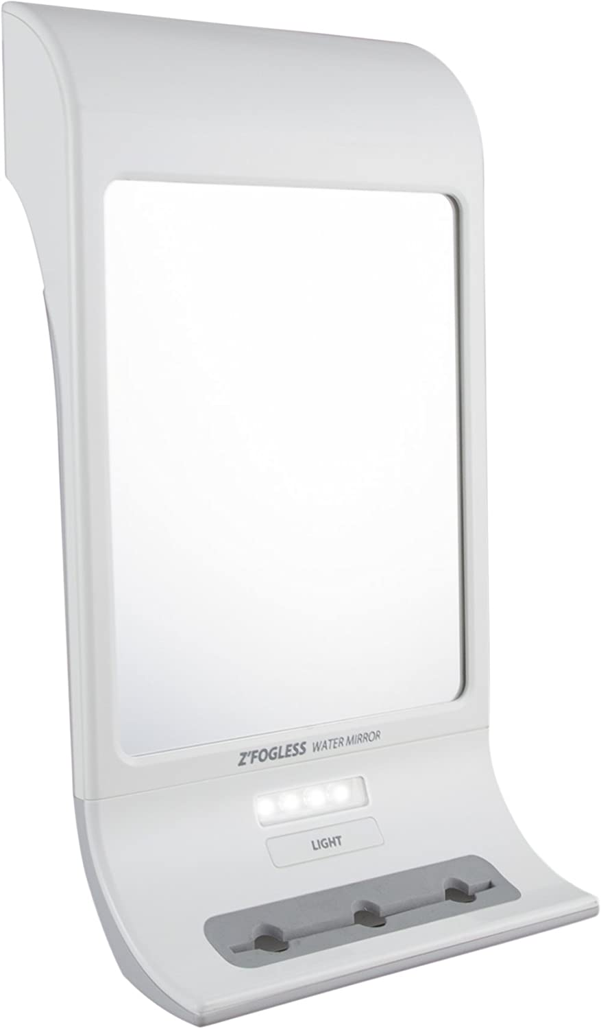 Zadro Fogless LED Lighted Touch Water Mirror, White ZW20TW