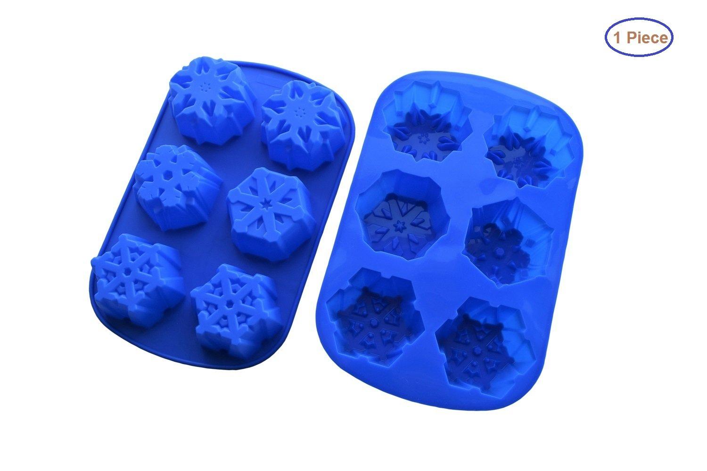 MyBeautifulLife 6 Even Snowflakes Silicone Cake Mold My Beautiful Life