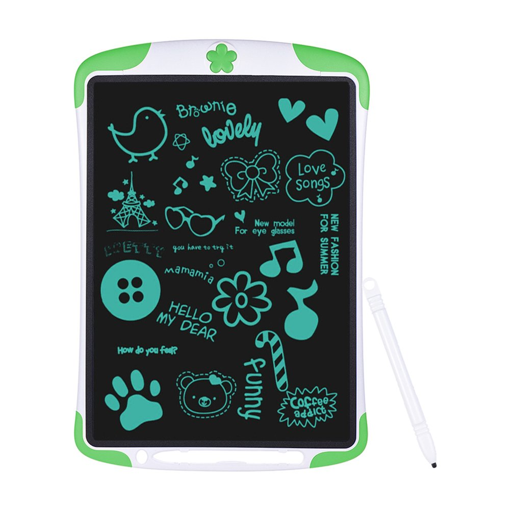Electronic Tablet Board, Digital Drawing Tablet Handwriting Pads, 10 inch Portable Electronic Tablet Board for Kids, Family, Adult Doodle/Graffiti/E-Writing with Random Stencil (Green) by Dust2Oasis (Image #1)