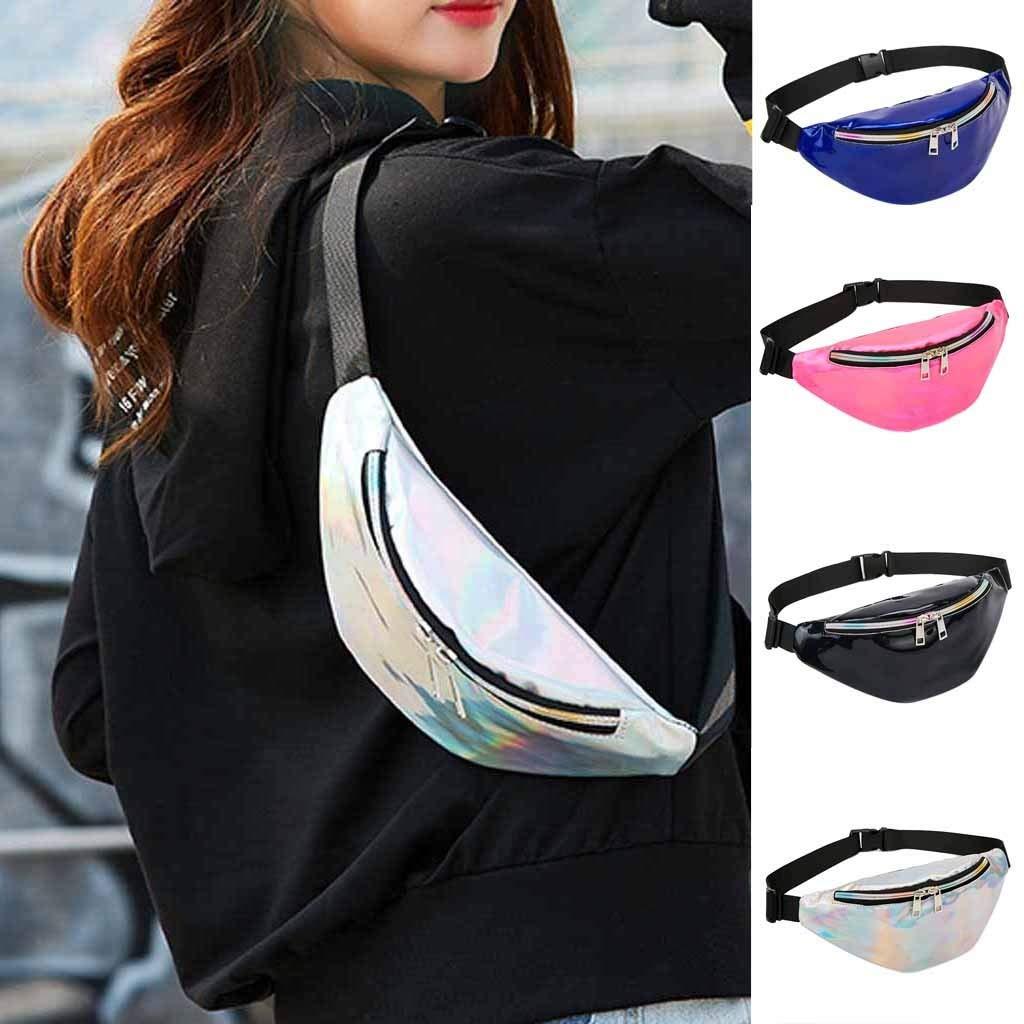 Danhjin Men Women Fashion Casual PU External Frame Solid Zipper Closure Dumplings Shape Messenger Crossbody Bag Chest Bag by Danhjin (Image #6)