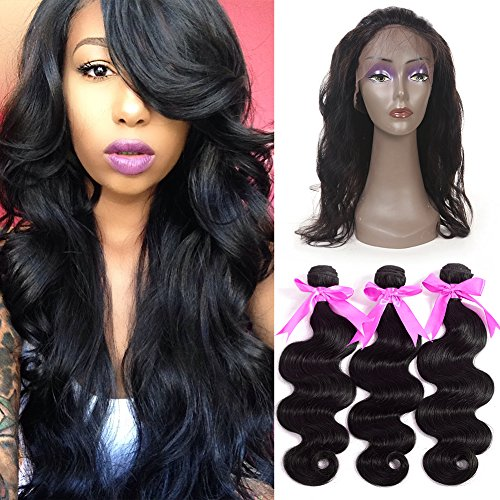 ANNMODE-hair-Pre-Plucked-22542-360-Lace-Frontal-Band-with-3-Bundles-Body-Wave-Brazilian-Virgin-Hair-4Pcs-Lot-Human-Hair-Wefts-with-Full-Lace-Frontal-Natural-HairlineBaby-Hair