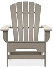 Patio Outdoor Plastic Adirondack Chair. Strickland Weather Resistant Patio Outdoor Plastic Adirondack Chair, Classic Lines, Comfortable Seating and Solid Design