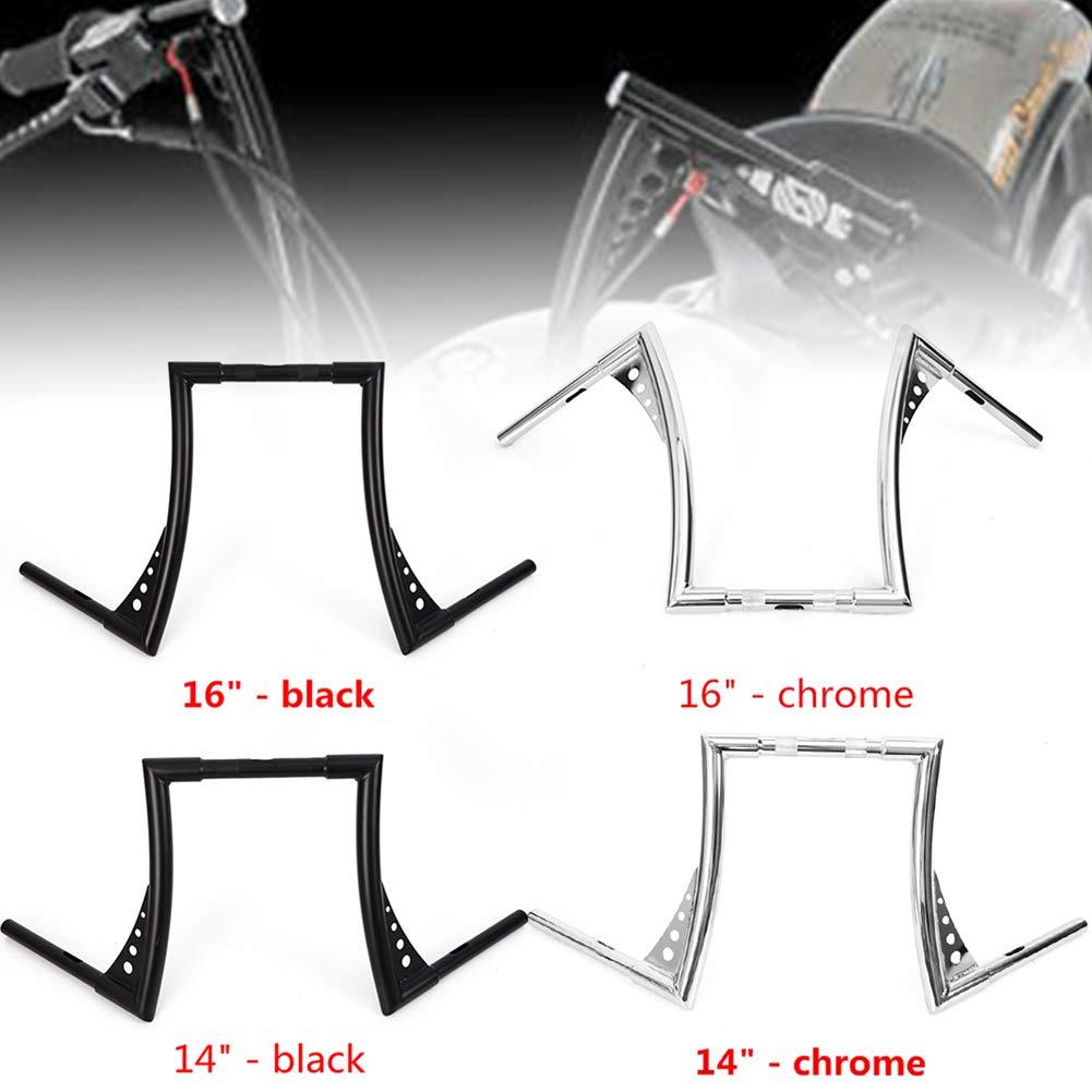 Handlebar TBVECHI 14 Inch Motorcycle Handlebar Rise Ape Hangers Chrome