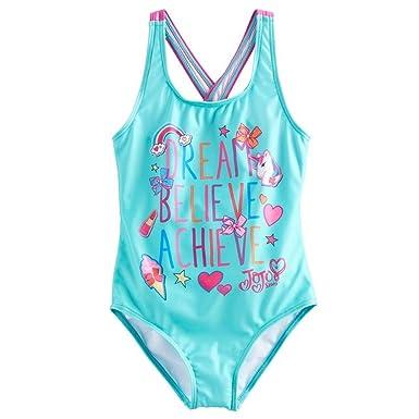 c978b8b9be Amazon.com  JoJo Siwa Dream Believe Achieve Girls One Piece Swimsuit ...