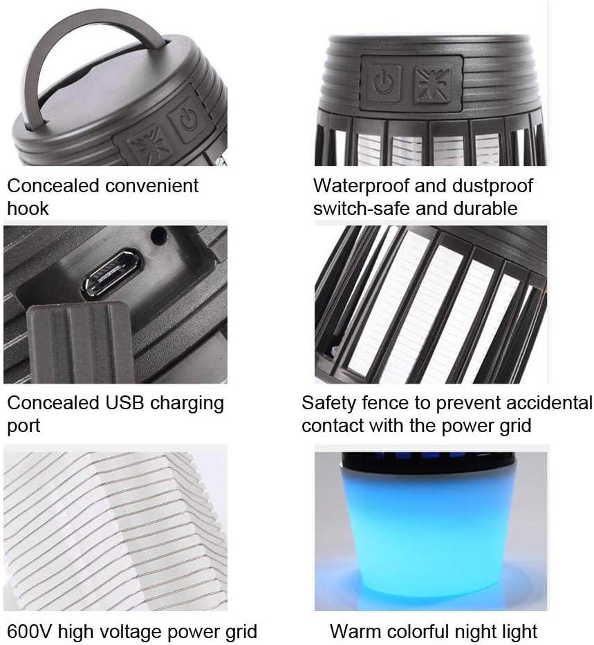 Cikonielf Lampe Anti-Moustique Anti-Moustique USB Rechargeable /électrique