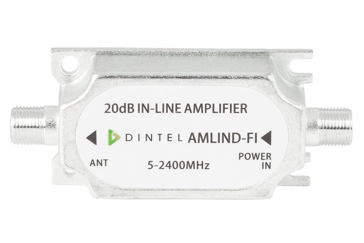 Dintel - Amplificador de línea RF+FI 15dB-20dB | Carcasa de fundición inyectada de zinc | Fuente de alimentación: 15 ± 3VDC | Rango de frecuencia: 950 a ...