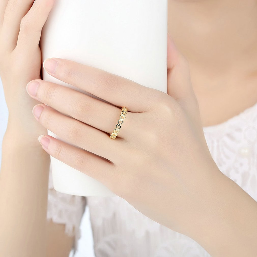 Everbling Linked Love 925 Sterling Silver Stackable Ring by Everbling (Image #6)