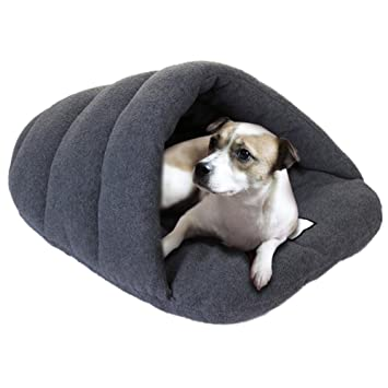 Cama-casa de felpa para mascota, para interiores y exteriores, para perro o gato, tamaño grande: Amazon.es: Productos para mascotas