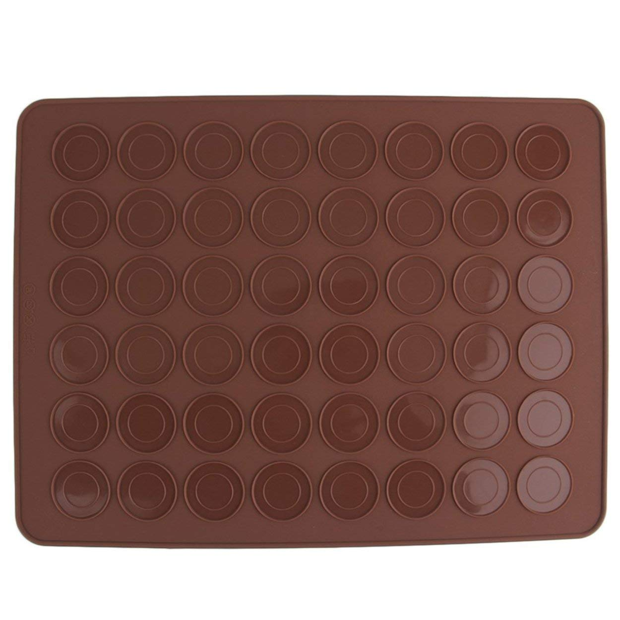 Lorenlli 1 UNID 48 Macaron Mat Silicona Molde Molde Para Hornear Pasteler/ía Hornear Estera Hoja Muffin Bandeja Reutilizable Utensilios de Cocina Utensilios de Cocina Accesorios
