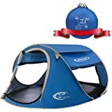 ZOMAKE Pop Up Tent 3 4 Person, Beach Tent Sun Shelter for Baby with UV Protection - Automatic and Instant Setup Tent for Fami