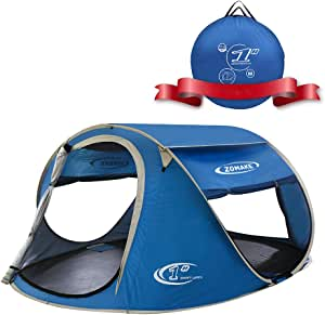 ZOMAKE Pop Up Tent 2 Person, Beach Tent Sun Shelter for Baby with UV Protection - Automatic and Instant Setup Tent for Family …