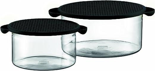 Bodum - K10127-01 - Hot Pot - Set de 2 Fuentes de Horno Cristal ...