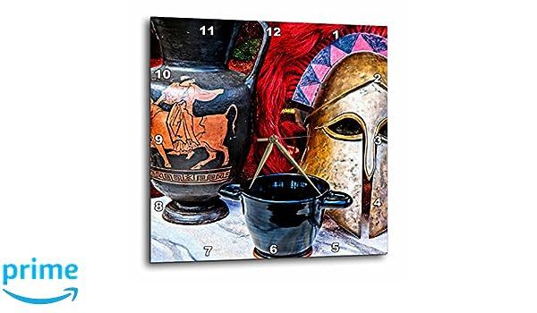 3dRose Antiguo Estilo Griego Still-Life de Bujías y un Casco de Guerra Reloj fotográfico de Pared, 33 x 33 cm (DPP_271916_2): Amazon.es: Hogar