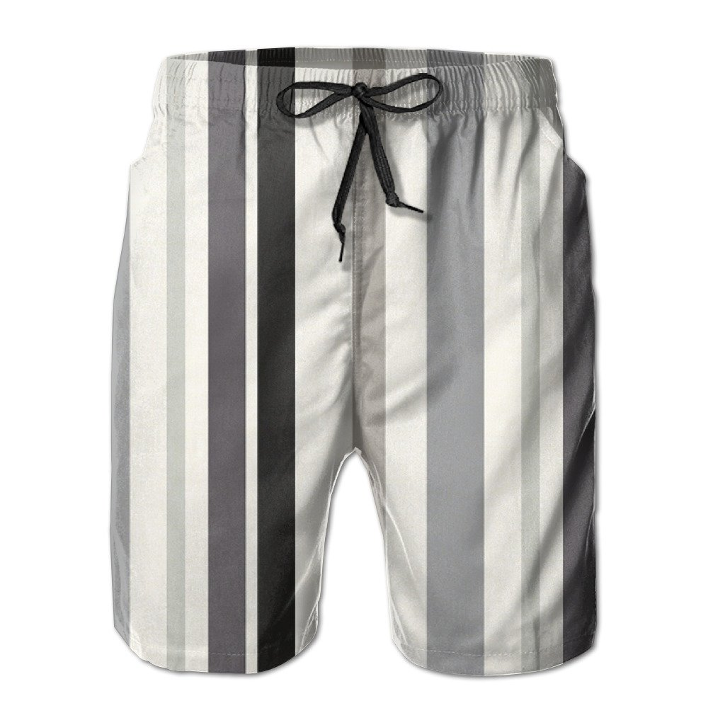 XIYX Stripes Men's Fashion Fit Summer Shorts Swim Trunk Quick Dry Casual Summer Beach Shorts With Pockets
