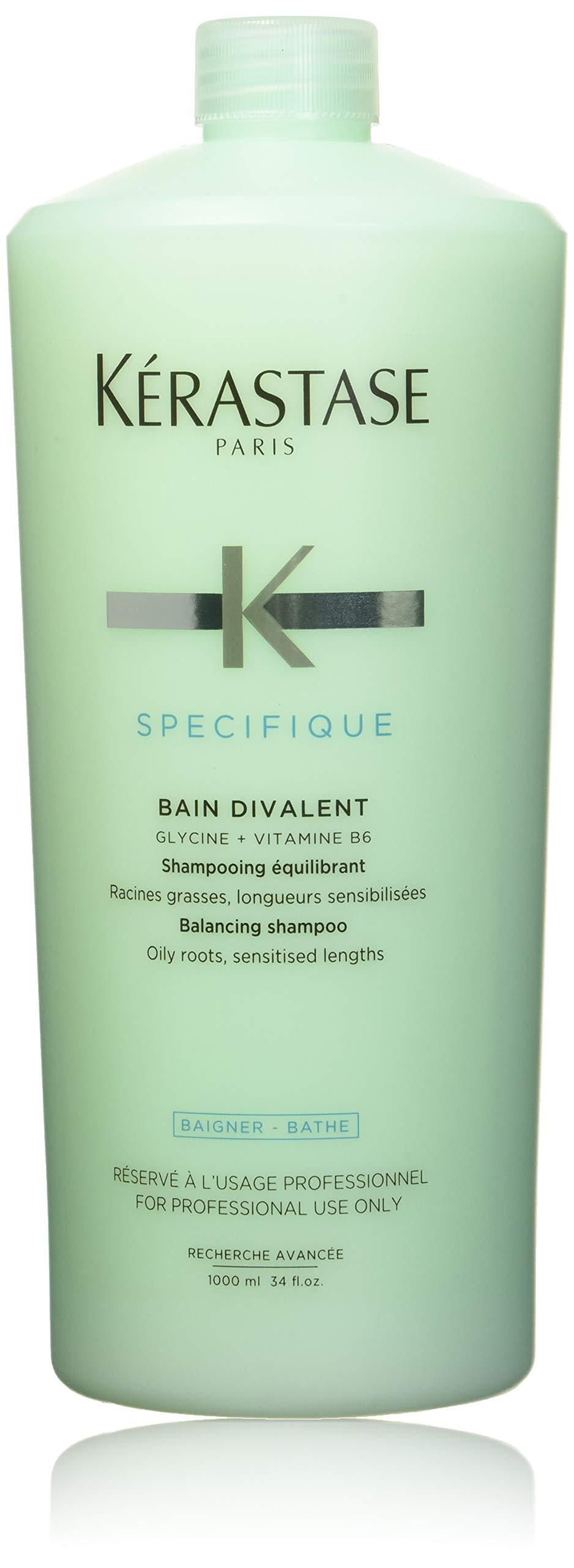 KERASTASE Bain Divalent Shampoo, Multicolor, Fresh, 34 Fl.Oz