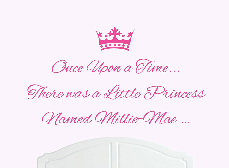 Beautiful Princess Millie-Mae Large Wall Sticker//Vinyl Bed Room Art Girl//Baby