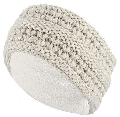 Femme Tricot Large Polaire Chaud Hiver Cache Oreilles Bandeau Headband HEAT HOLDERS