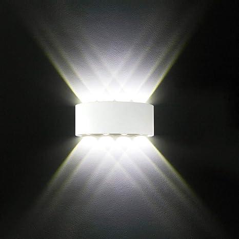 Applique da parete Interno Moderno, 8W Bianco Lampade da parete LED in  Alluminio per interni esterno Perfetto per Camera da letto, Soggiorno, ...