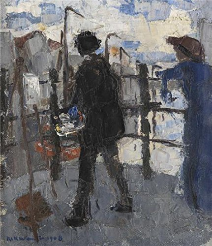 Oil Painting Rik Wouters   The Painter At Hoogbrug In The City Of Mechelen  1908 20 X 23 Inch   51 X 59 Cm   On High Definition Hd Canvas Prints Is For Gifts And Basement  Bath Room And Home Decor