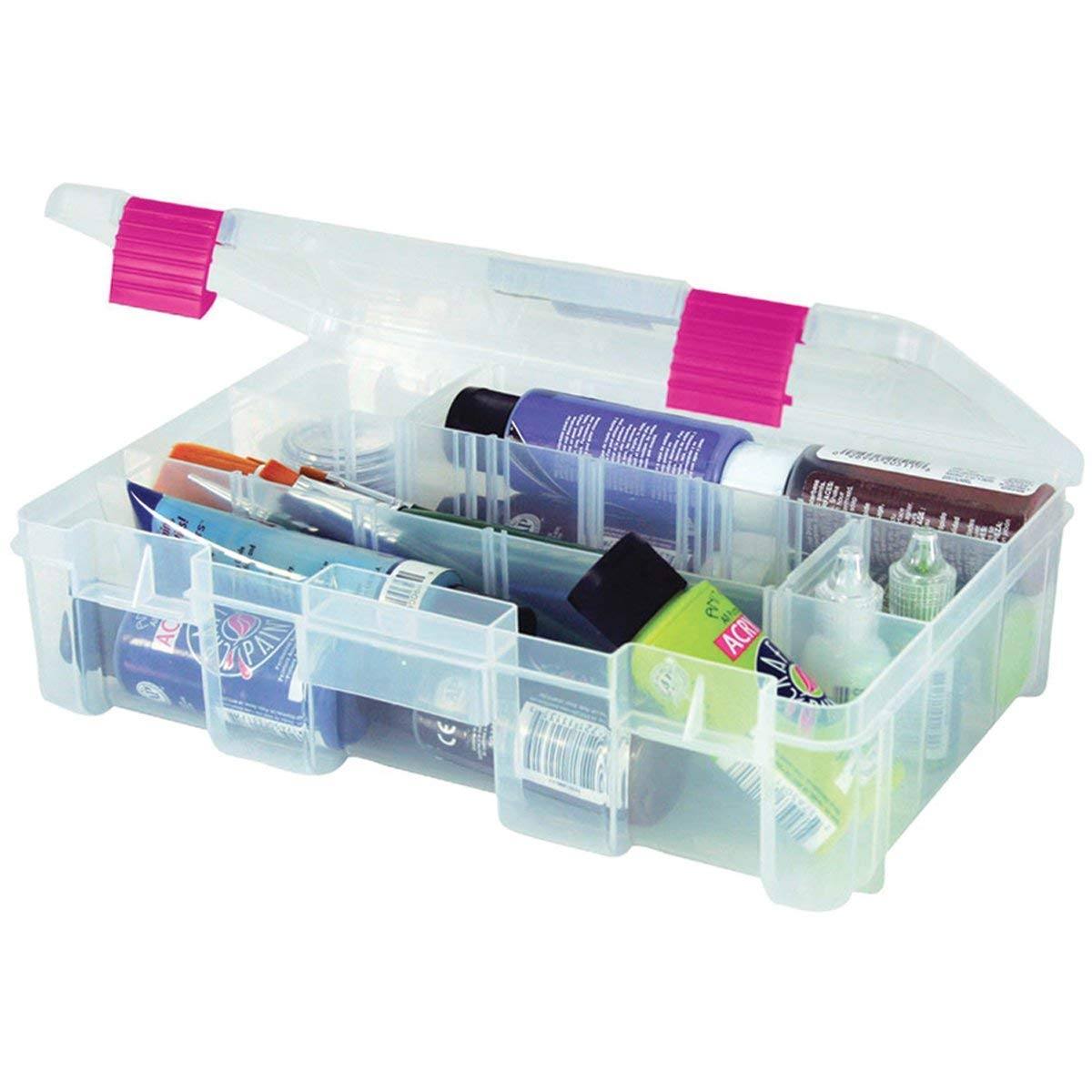 Creative Options 2-3630-82 Pro-Latch Deep Utility Organizer with 4 to 9 Adjustable Compartments, Medium Plano Molding Company
