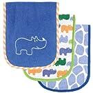 Luvable Friends Safari Themed Burp Cloths 3 Pack, Blue