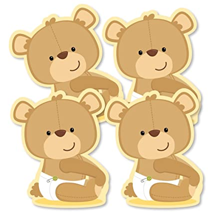Baby Teddy Bear Decorations Diy Baby Shower Party Essentials Set Of 20