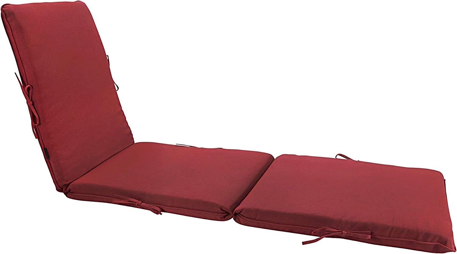 Bossima Indoor Outdoor Lounge Chair Cushions Chaise Bench Seasonal Replacement Cushions Patio Furniture Cushions (Olefin Red)