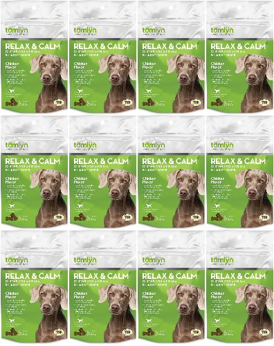 Tomlyn Relax & Calm Chews Medium and Large Dogs 360ct (12 x 30ct)
