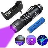 Lanterna LED 395 nm Tática UV Ultra Violeta Luz Negra com Bateria 14500