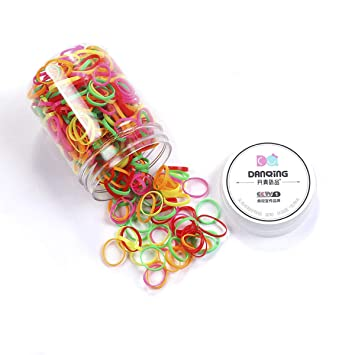 color 1 Miaoo 450 Pieces Mini Multi Color Elastic Rubber Bands Soft Elastic Hair Bands for Kids Baby Girls Hair, Braids Hair Wedding Hairstyle and More