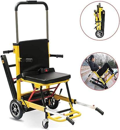 ZZYYZZ Silla de Ruedas eléctrica para Subir escaleras, Camilla de Escalera Plegable y Liviana, Arrastre automático Inteligente para Subir escaleras para discapacitados y Ancianos: Amazon.es: Hogar
