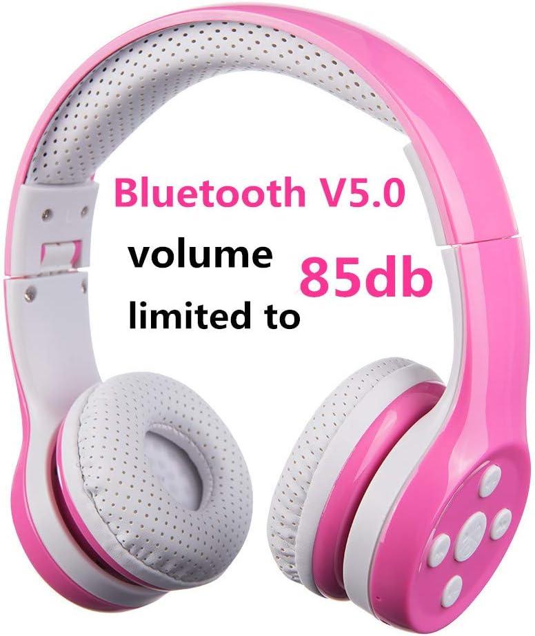 Auriculares Bluetooth para niños, Hisonic Auriculares para niños con volumen limitado compatible con iPhone, iPad,PC,MP3 y más dispositivos Bluetooth, regalo perfecto para los niños (Rosa): Amazon.es: Electrónica