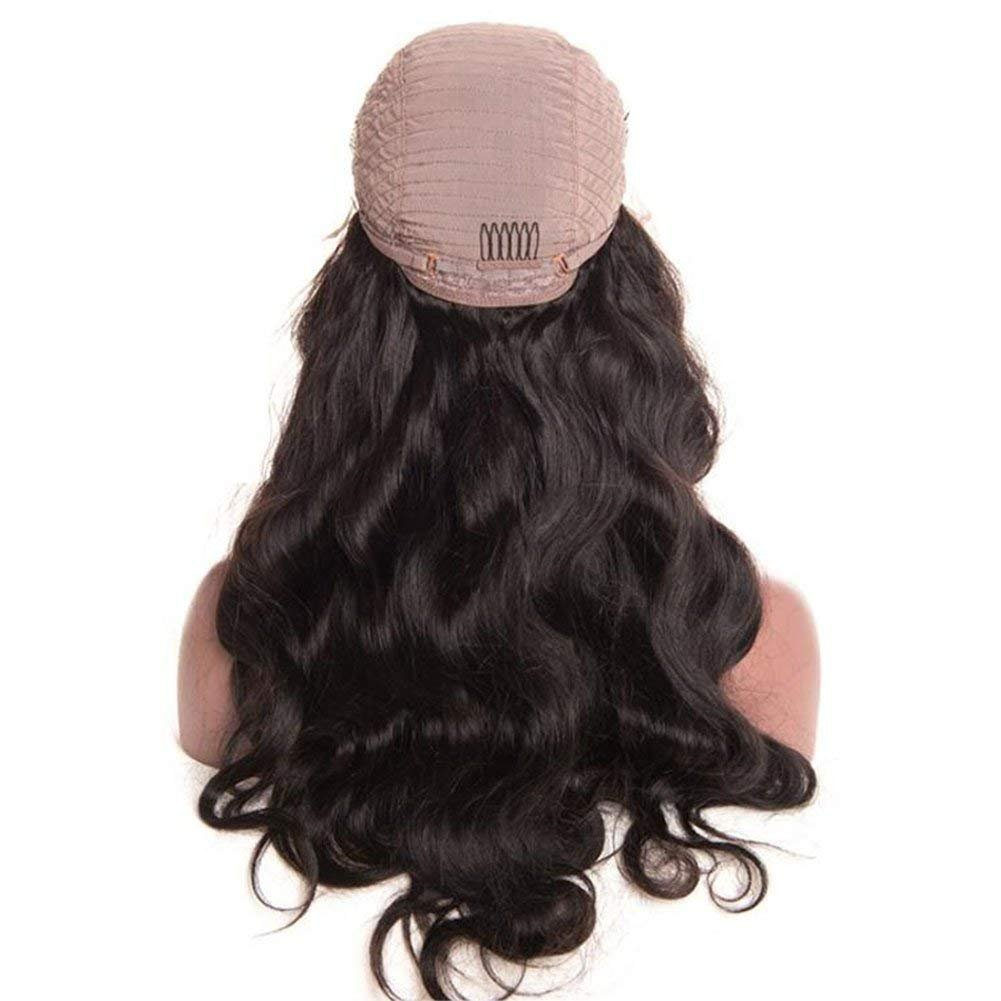 Brazilian Body Wave Lace Front Wigs Glueless Brazilian Virgin Human Hair Wigs Pre Plucked Natural with Baby Hair for Black Women 22 inch by Younsolo (Image #4)