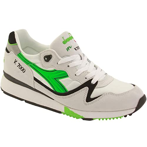 Diadora Men V7000 OG - Italian Made Espresso Ristretto 1990s (green / white)