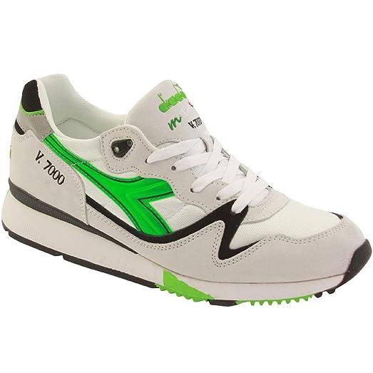Diadora V7000 Og Mens White Mesh Athletic Lace Up Running Shoes 6.5