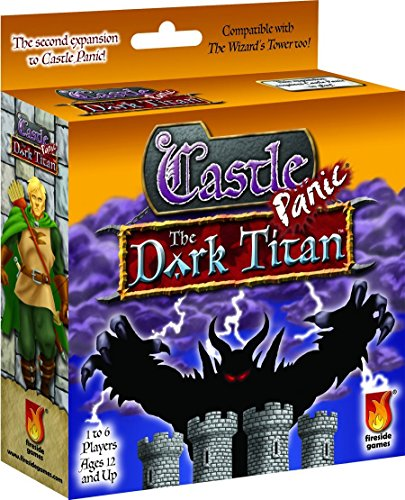 Castle Panic Dark Titan Board - Towers Castle Shops