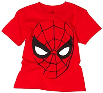 Spiderman Men's Big Face Spiderman T-Shirt, Red, XX-Large