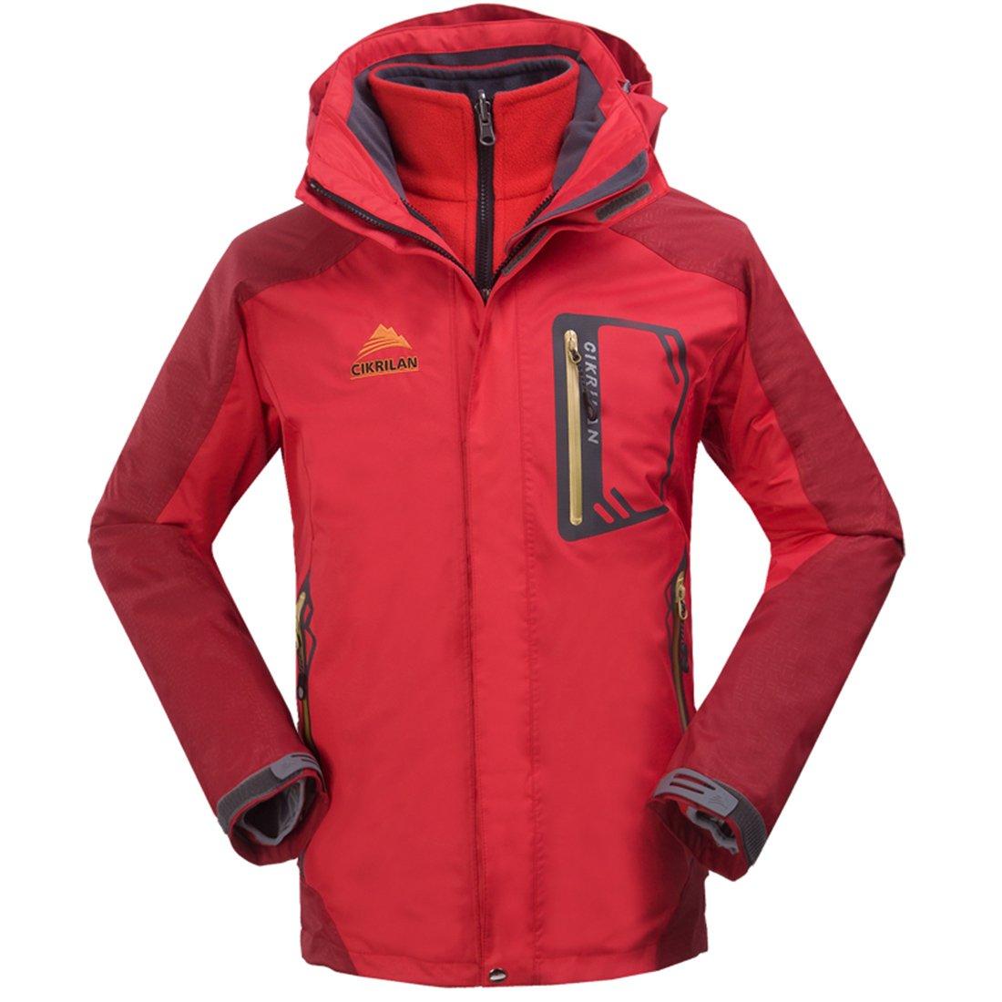 CIKRILAN Men's 3in1 Windproof Waterproof Outdoor Jacket Coat Camp Hiking Travel topway CKL2189