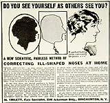 1923 Ad Vintage Quackery M. Trilety Nose Shaping