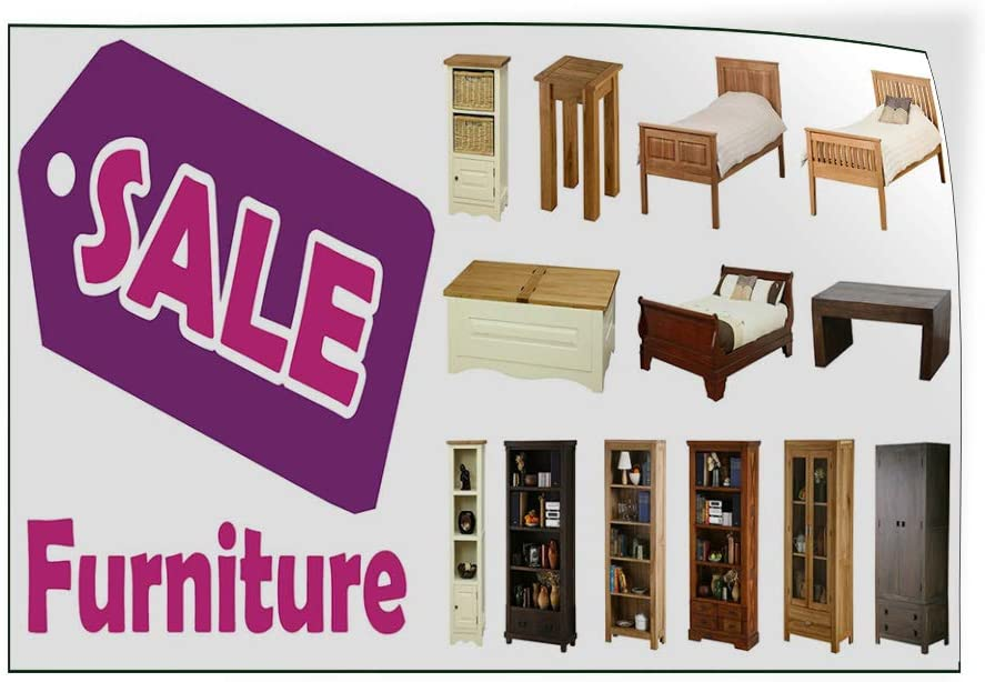 Set of 2 Decal Sticker Multiple Sizes Sale Furniture White Purple Brown Business Sale Outdoor Store Sign White 52inx34in