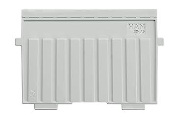 Han 9026-11 - Separadores de plástico para cajas de fichas, poliestireno, A6, apaisados, color gris claro: Amazon.es: Oficina y papelería