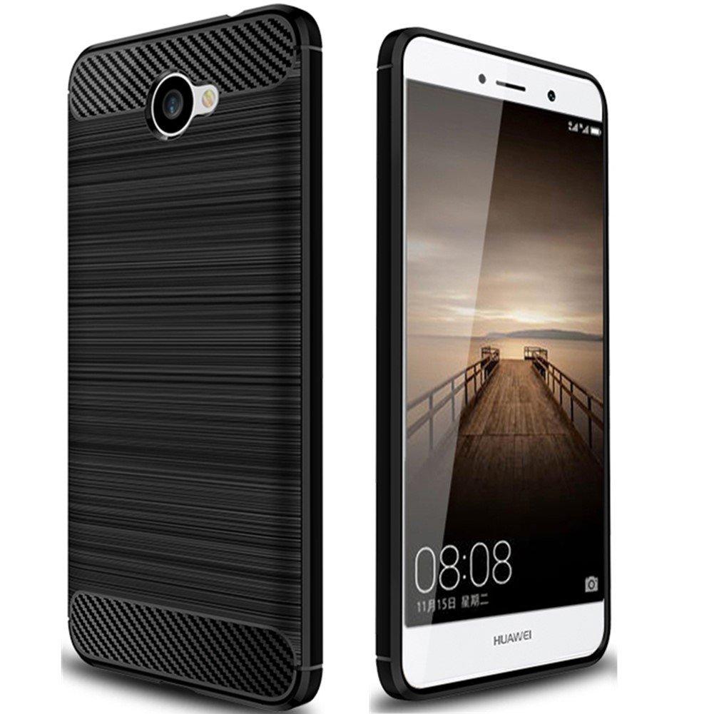 Dretal Huawei Ascend XT 2 Case, Huawei Elate 4G LTE Case, Carbon Fiber Shock Resistant Brusd Texture Soft TPU Phone case Anti-Fingerprint Flexible ...