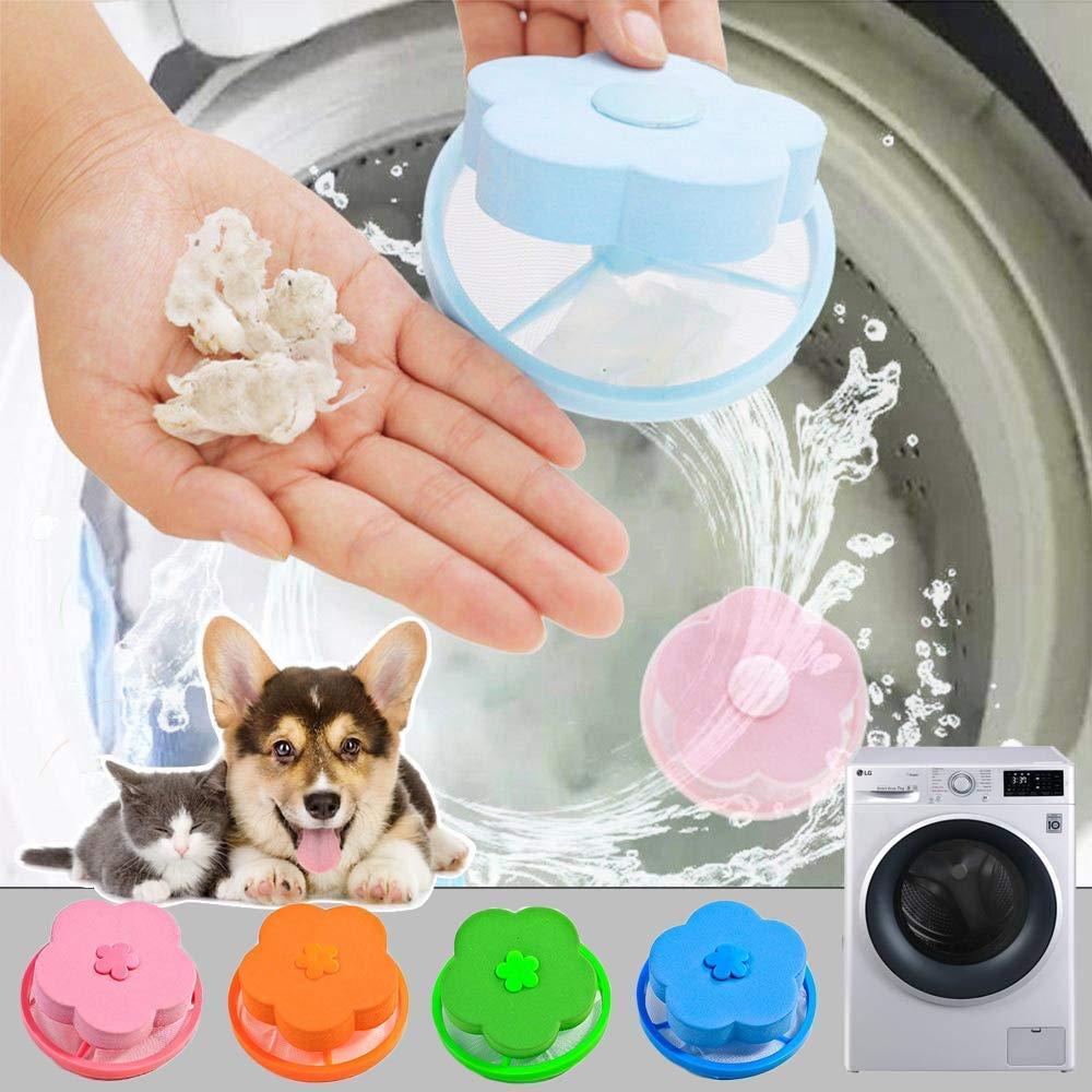 4 Pieces Lint Catcher For Washing Machine Lint Trap Floating Hair Fur Catcher La