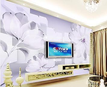 Wapel Fantasy Blumen 3D Wandtapete Tapeten Für Wohnzimmer ...
