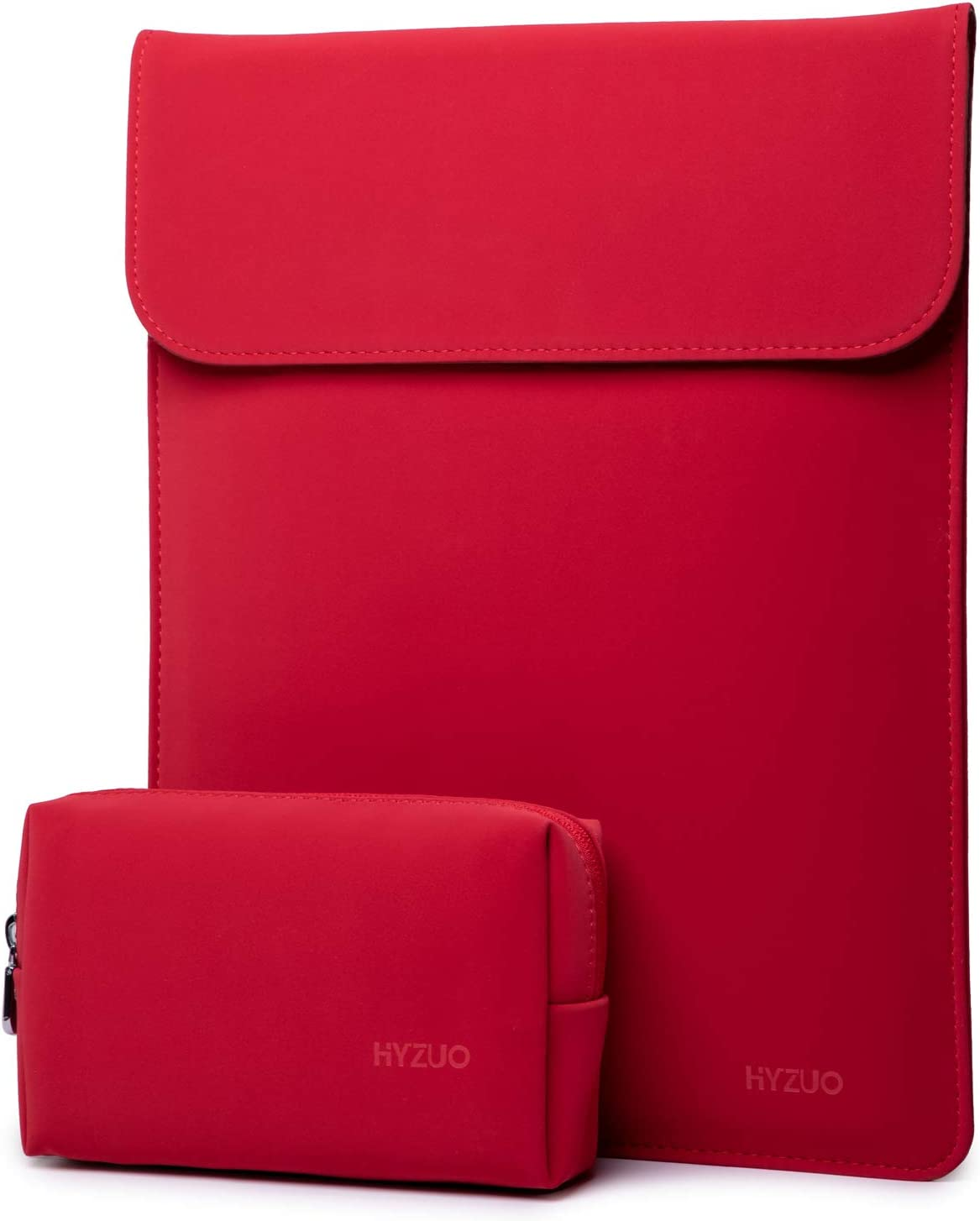 HYZUO 15-16 Inch Laptop Sleeve Case Compatible with 2019 MacBook Pro 16 A2141/ Surface Laptop 3 15 Inch/Dell XPS 15/2012-2015 Old MacBook Pro Retina 15 A1398, Red