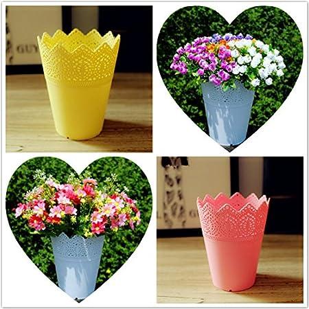 Cosanter Dentelle Multifonction Vase Pot De Fleurs en plastique Support Stylo Organisateur de Pinceau de Maquillage