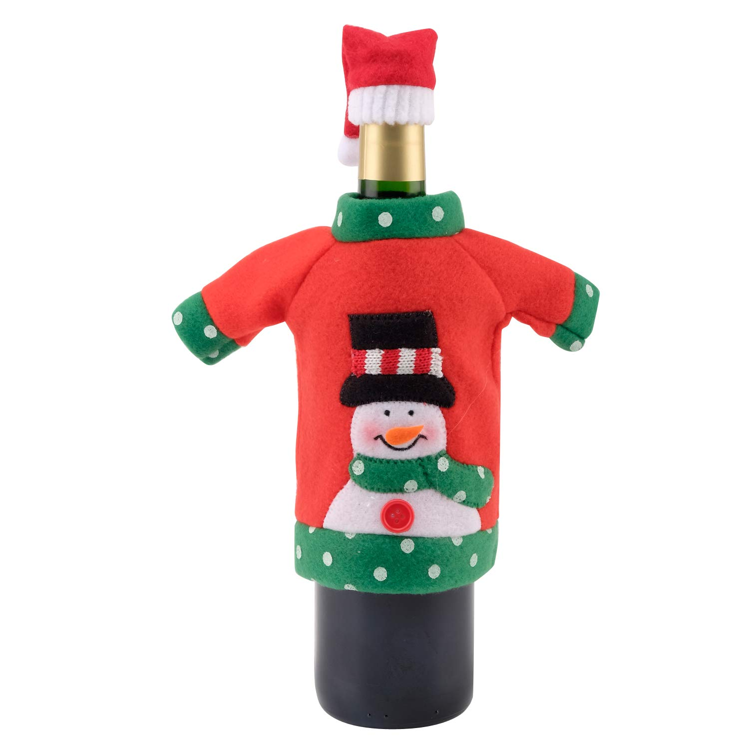 for Wine Beer Water Bottles for Christmas Party Favors Supplies Xmas Party Table Decoration Holiday Party Gift A Christmas Wine Bottle Cover AHUA Ugly Sweater Christmas Party Kit 2pack