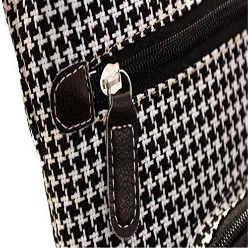 Smile-YZ - Bolso mochila  para mujer multicolor Deep Brown 063-Stars